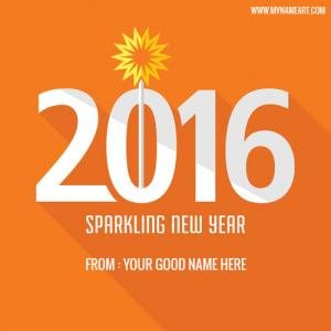 Sparkling New Year 2016 Name Picture