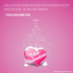 This Valentine Day Love Picture Greeting Card
