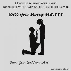 Will You Merry Me Propose Name Pictures