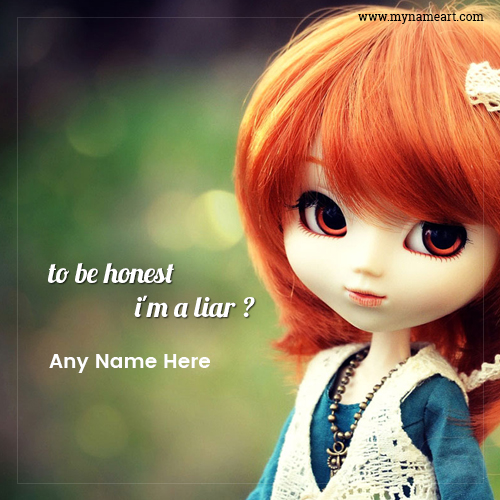 Cute Doll Picture With Quotes
