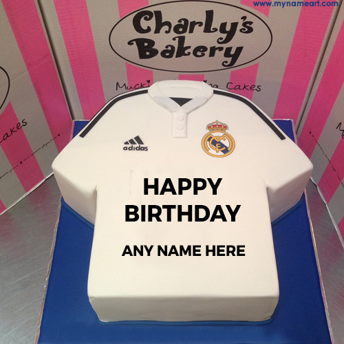 Sport Tshirt Design Birthday Cake With Name