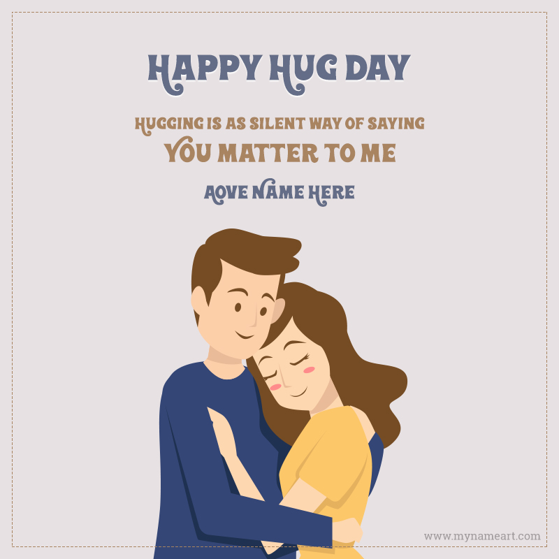Valentine Hug Day Wishes Message With Name
