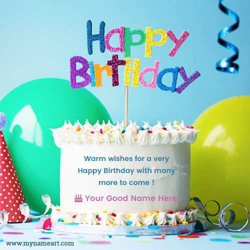 warm wishes happy birthday with name wishes greeting card