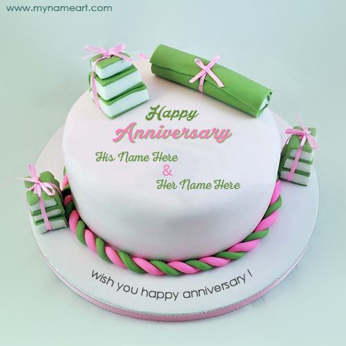 Latest Wedding Anniversary Wishes Cake Picture With Name