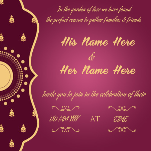create wedding invitation card online free  wishes greeting card, Wedding invitation