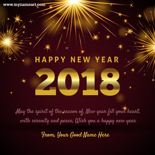 Online writing your name on happy new year wishes pictures welcome happy new year 2018 quotes m4hsunfo