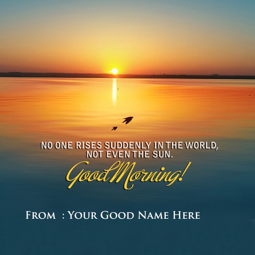 Whatsapp Good Morning Wishes Name Profile Pictures