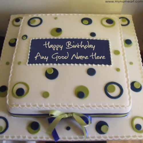 Birthday Party Cake With Name Edit Image Online