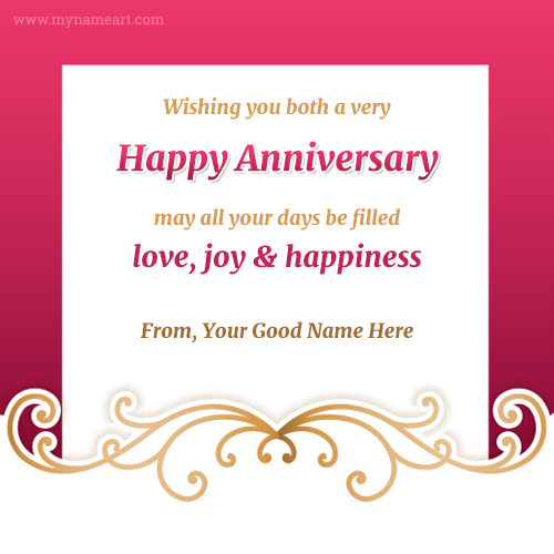 Online Anniversary Card Maker Kalde Bwong Co