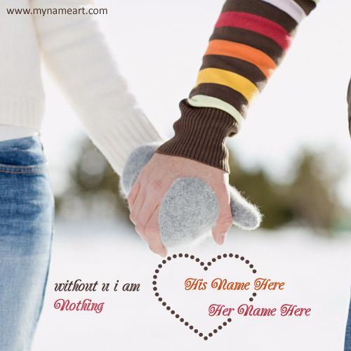 Without You I Am Nothing Couple Winter Picture