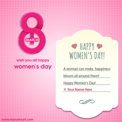 8 March International Women Day Ecard Maker
