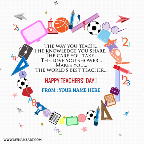 World teachers day greeting cards with name edit wishes greeting card world teachers day quotes with name spiritdancerdesigns Images