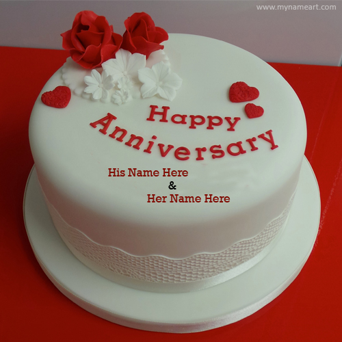 Happy Anniversary Cake Picture Card Maker