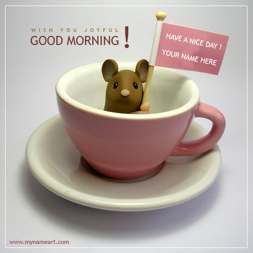 Write Name On Good Morning Pictures