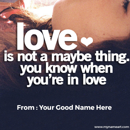 Romantic Love Couple Quotes Name Pictures